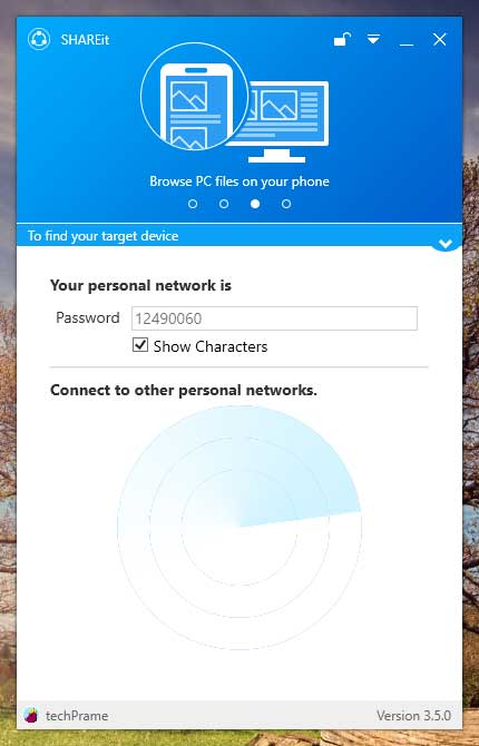 Download Shareit For PC Screen - Searching Device