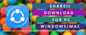 SHAREit Download For PC | SHAREit App For Windows/7/8/8.1 & Mac Free